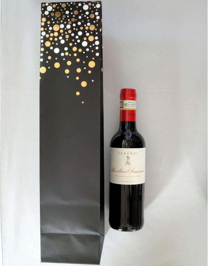 Cadeauzak Feestdagen voor 1 flesje wijn