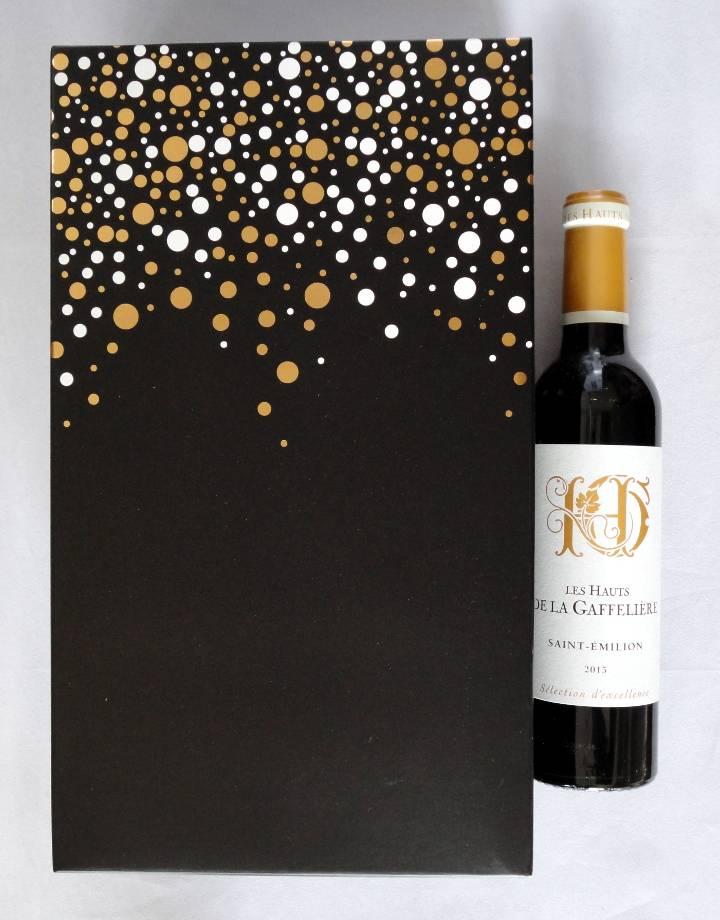 Doosje Feestdagen voor 2 flesjes wijn