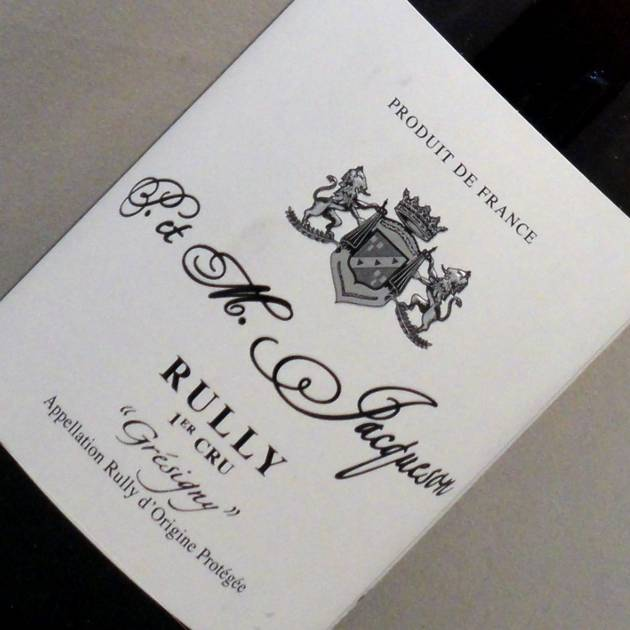 Rully 1er Cru 'Grésigny' - Domaine Jacqueson