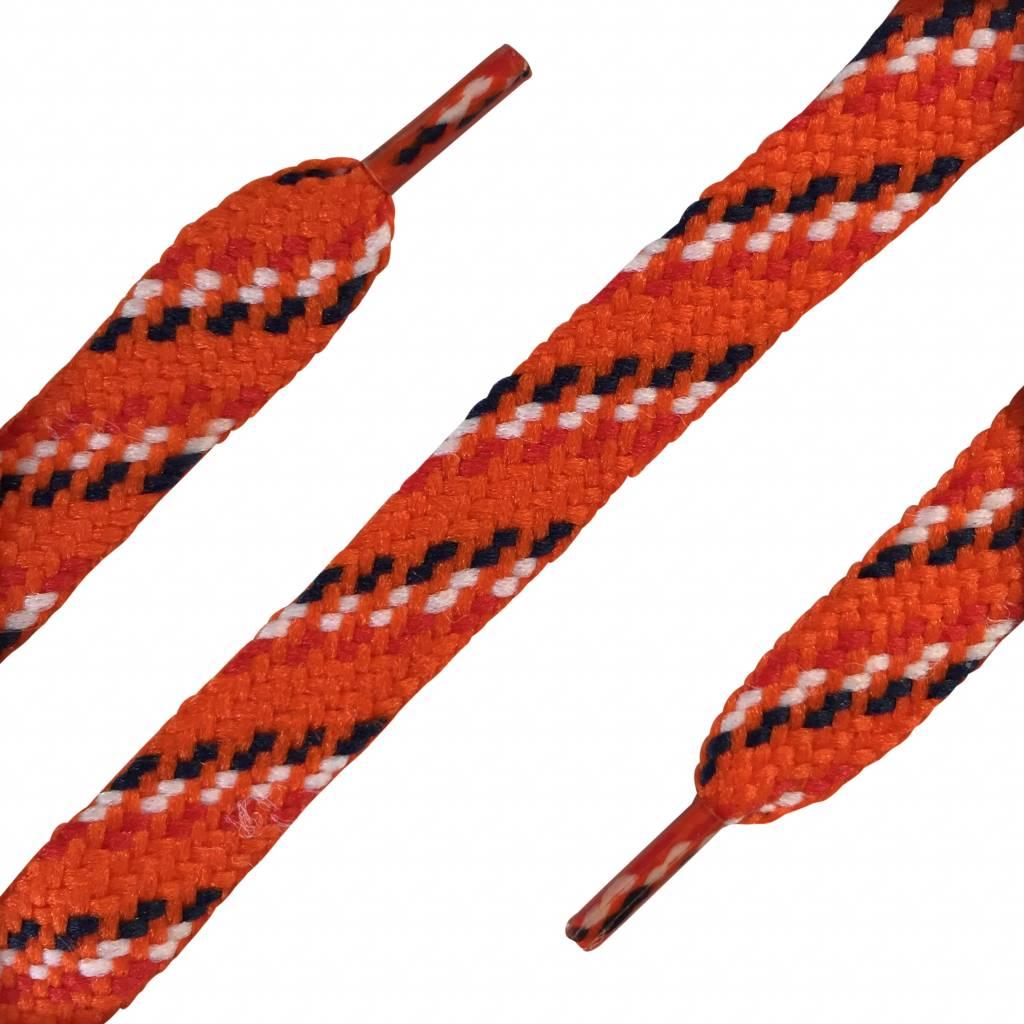 ShoeSupply.eu Plat 180 cm - Sneaker veter Oranje - rood wit blauw
