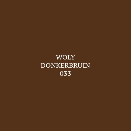 Woly Donkerbruin 033 Schoensmeer