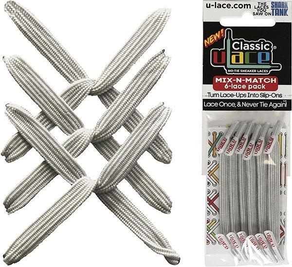 U-LACE VETERS U-Lace veters Mix-n-Match Metallic Zilver