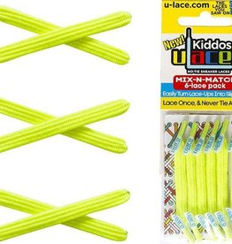 U-LACE VETERS ULace veters Kiddos Neon Geel