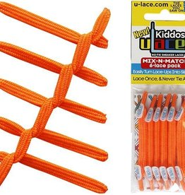 U-LACE VETERS ULace veters Kiddos Neon Oranje