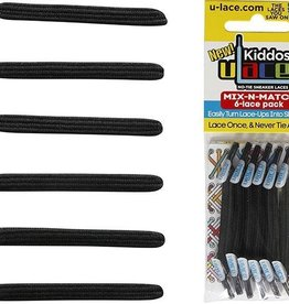 U-LACE VETERS ULace veters Kiddos Zwart