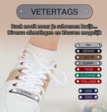 Veter Tag - ZWART/ZILVER - 40mm