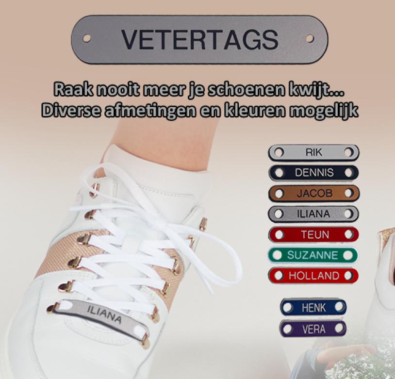 Veter Tag - ZWART/ZILVER - 30mm