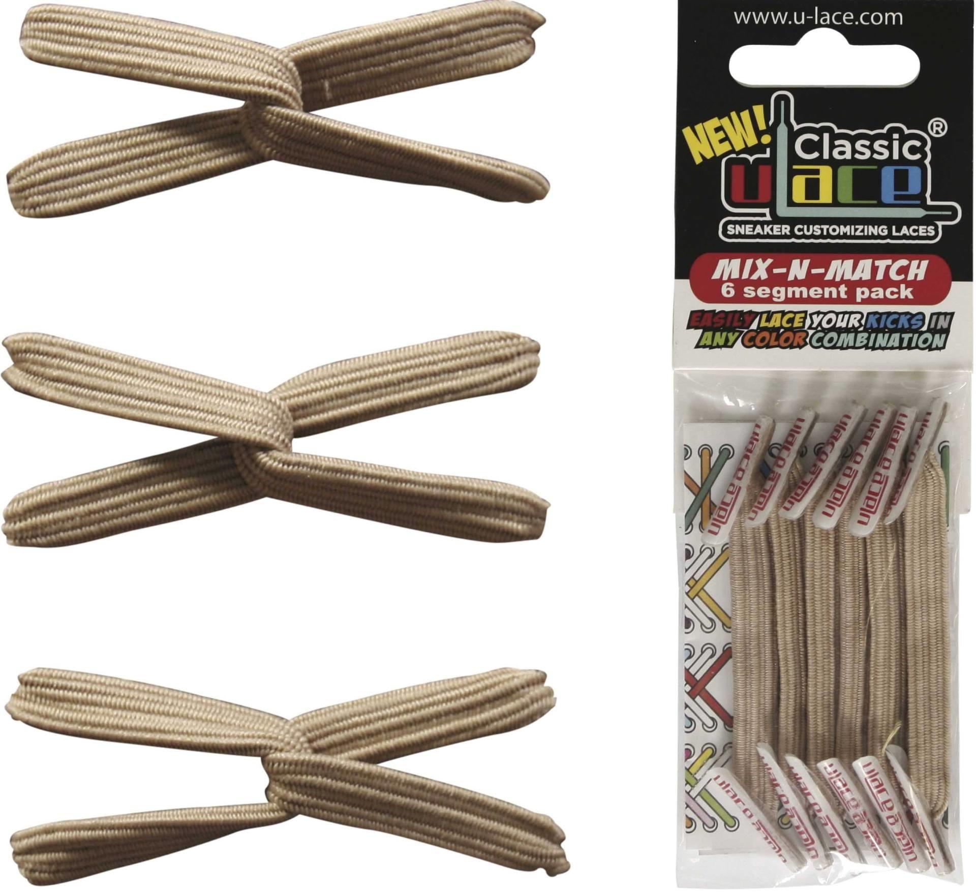 U-LACE VETERS U-Lace veters Mix-n-Match Khaki