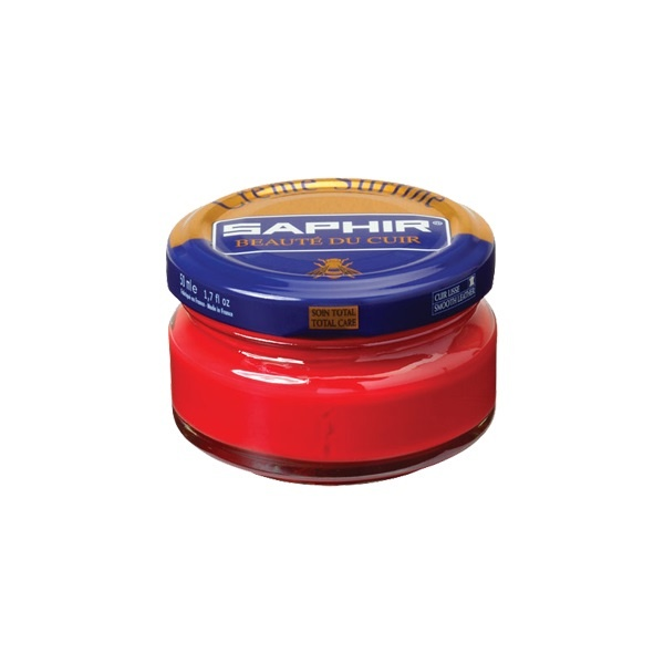 Saphir Crème Surfine Rood - schoenpoets