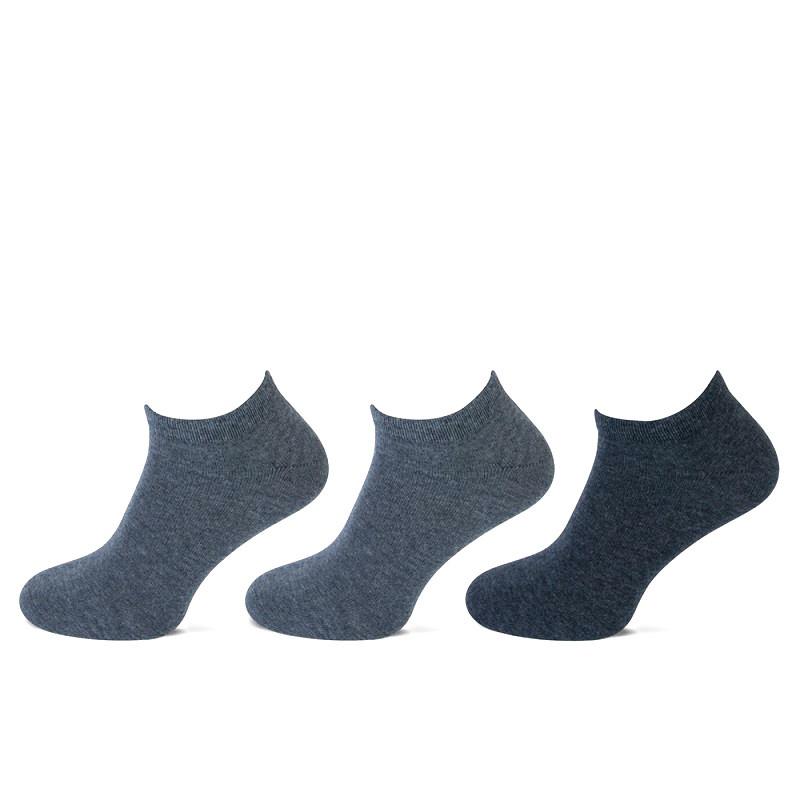 Teckel Teckel Sneakersokken - 3 paar - grijs