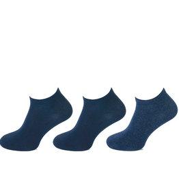 Teckel Teckel Sneakersokken - 3 paar - blauw