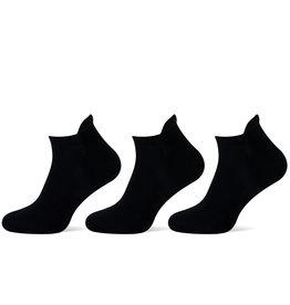 Teckel Teckel Sneakersokken Lip - 3 paar - zwart