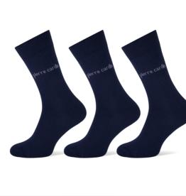 Pierre Cardin Pierre Cardin herensokken - 3 paar - uni blauw