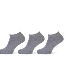 Pierre Cardin Pierre Cardin heren sneakersokken - 3 paar - uni grijs