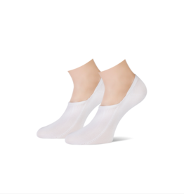 Teckel Teckel antibacterieel skinlife footies 2 paar - wit