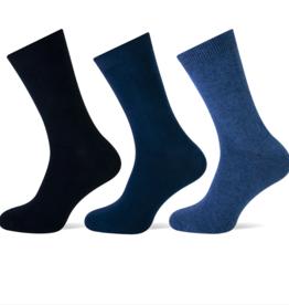 Teckel Teckel Dames sok uni - blauw assorti - 3 paar