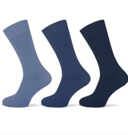 Teckel Teckel Heren sok uni - blauw assorti - 3 paar