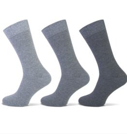 Teckel Teckel Heren sok uni - grijs assorti - 3 paar