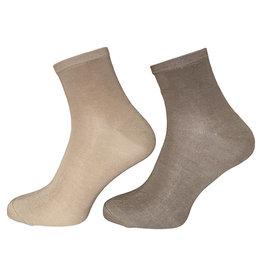 Boru sokken Boru Bamboe enkelsokken - beige