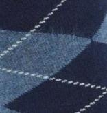 BORU Boru Bamboe sokken - ruit - navy