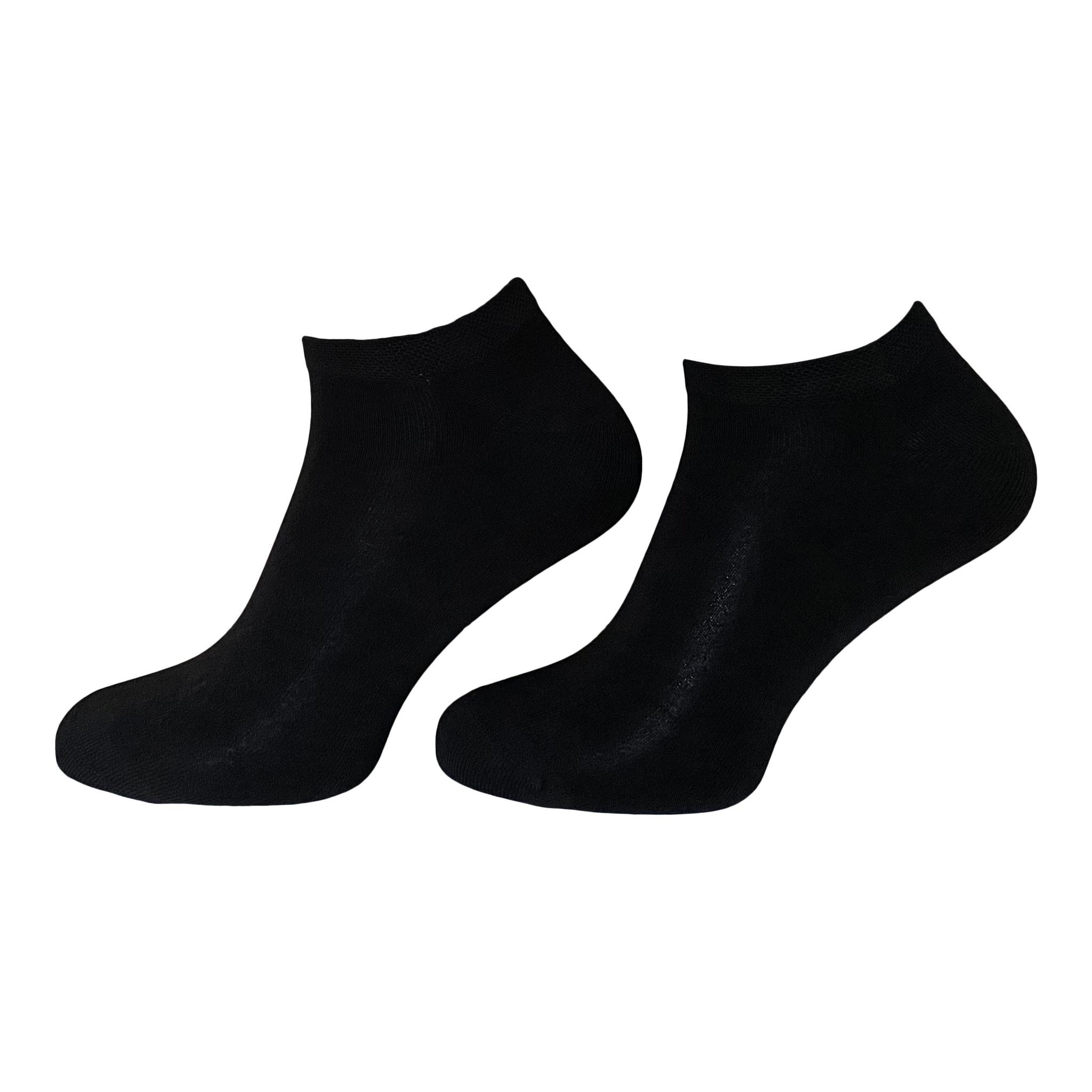 BORU Boru Bamboe Terry sneakersokken - zwart