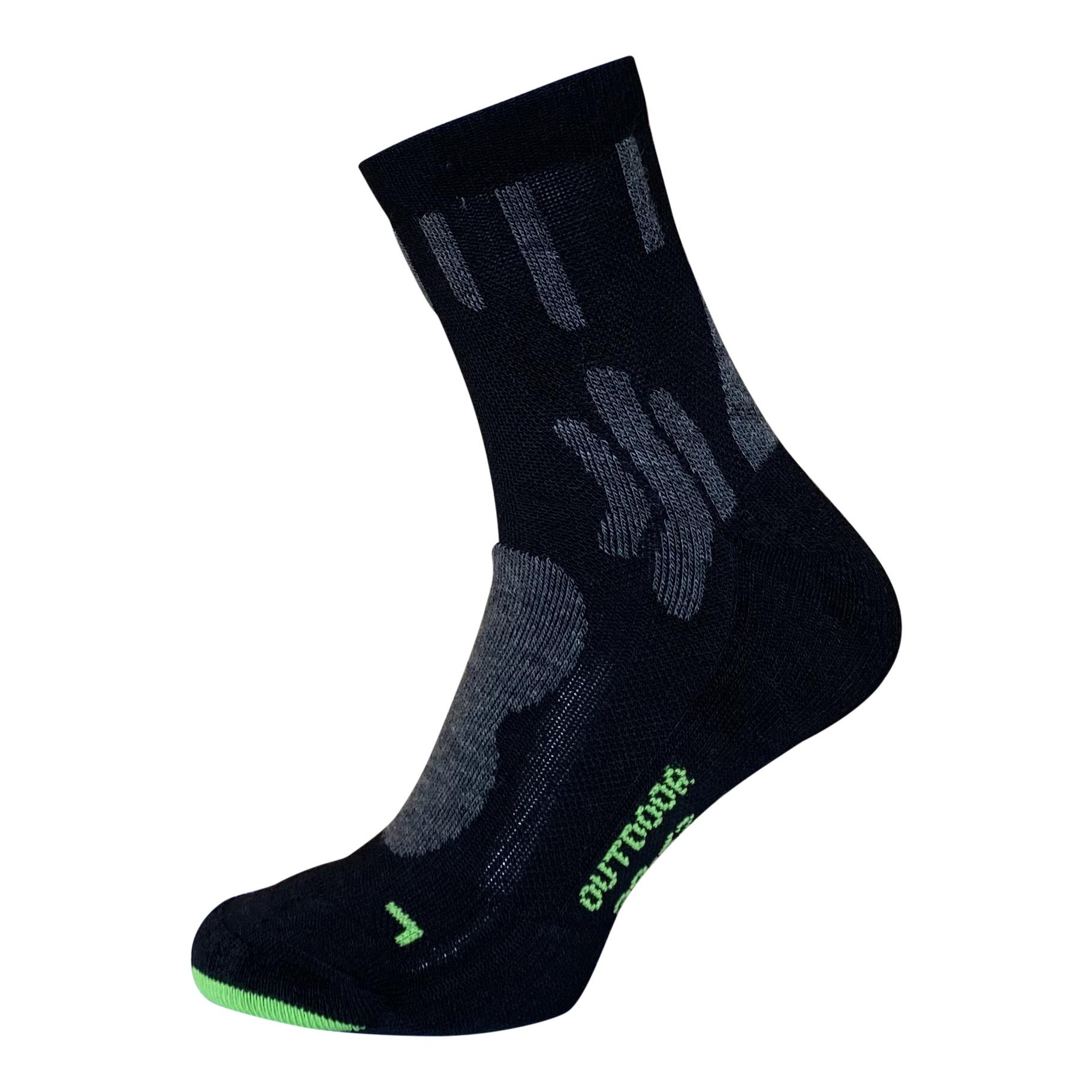 BORU Boru Bamboo Outdoor sokken - zwart