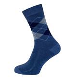 BORU Boru Bamboe sokken - ruit - jeans