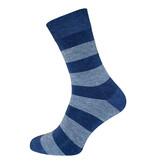 BORU Boru Bamboe sokken - streep - jeans