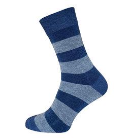BORU Boru streep Bamboe sokken - jeans