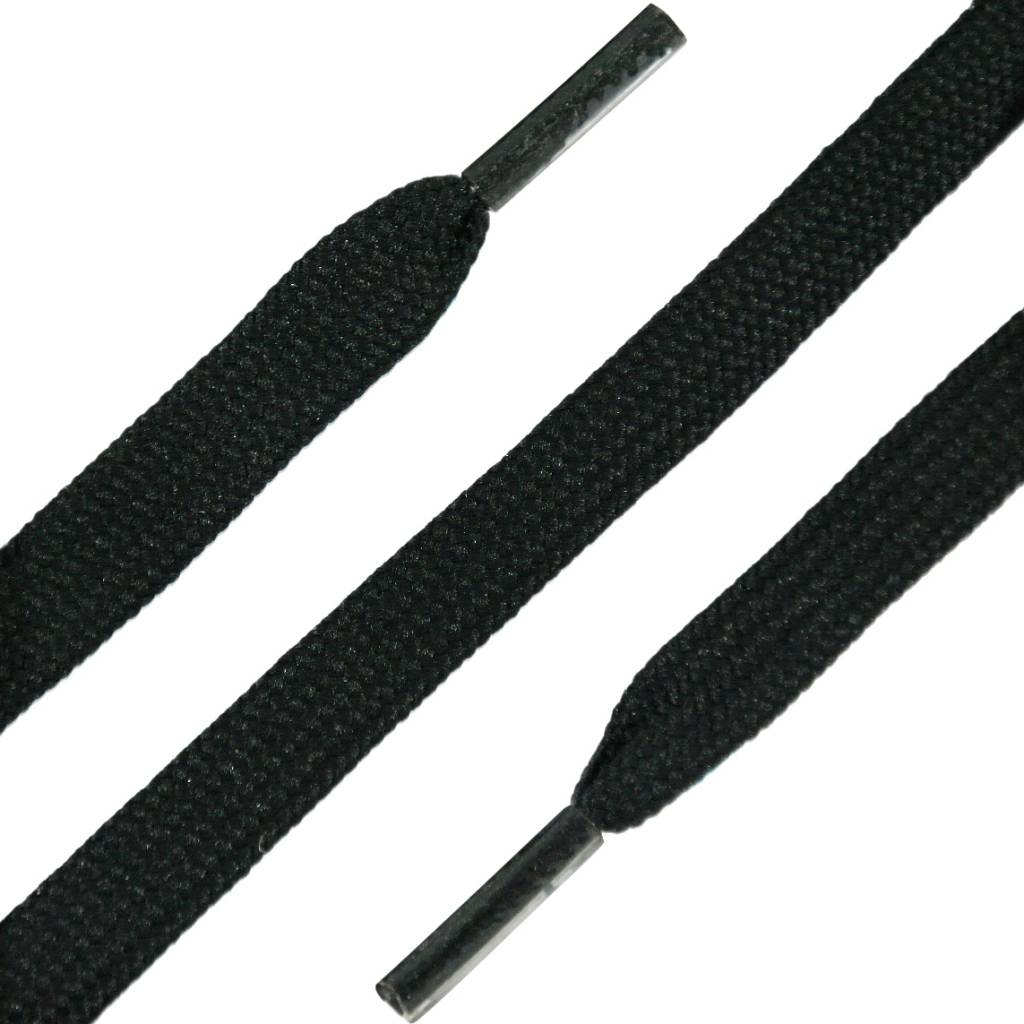 SL LINE Platte Werkschoen Veters Zwart 100cm