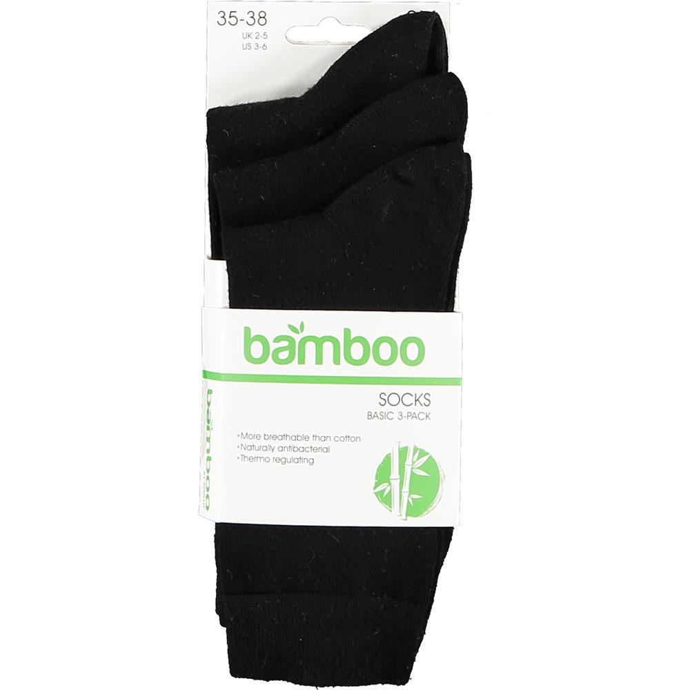 APOLLO Bamboo sokken Basic - zwart