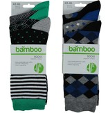 APOLLO Bamboo sokken Fashion - multi black II