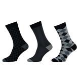 APOLLO Bamboo sokken Fashion - multi grey II