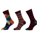APOLLO Bamboo sokken Fashion - assorti bordeaux