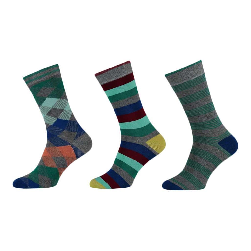 APOLLO Bamboo sokken Fashion - assorti grijs