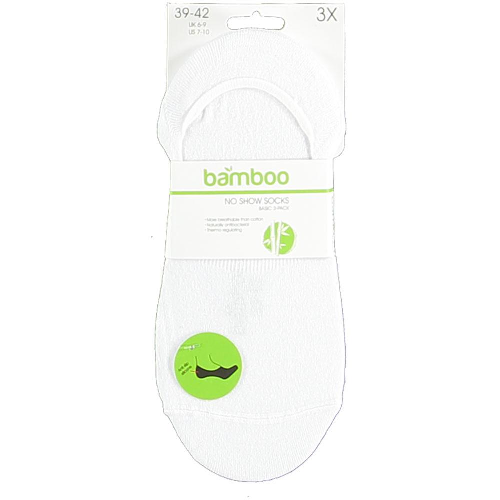 APOLLO Bamboo No-Show sneakersok - badstof zool - wit
