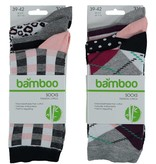 APOLLO Bamboo damessokken Fashion - grey I