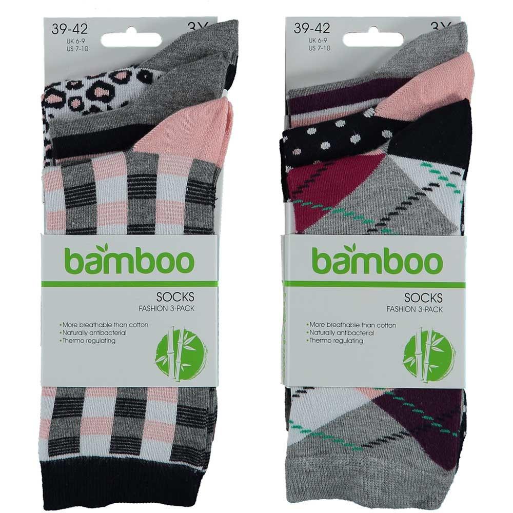 APOLLO Bamboo damessokken Fashion - grey II