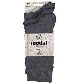 APOLLO Modal sokken - middengrijs - 3 paar
