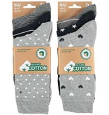 APOLLO Bio Cotton damessokken - grey I