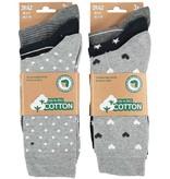 APOLLO Bio Cotton damessokken - grey II