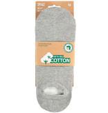 APOLLO Bio Cotton sneakersok No Show - grijs