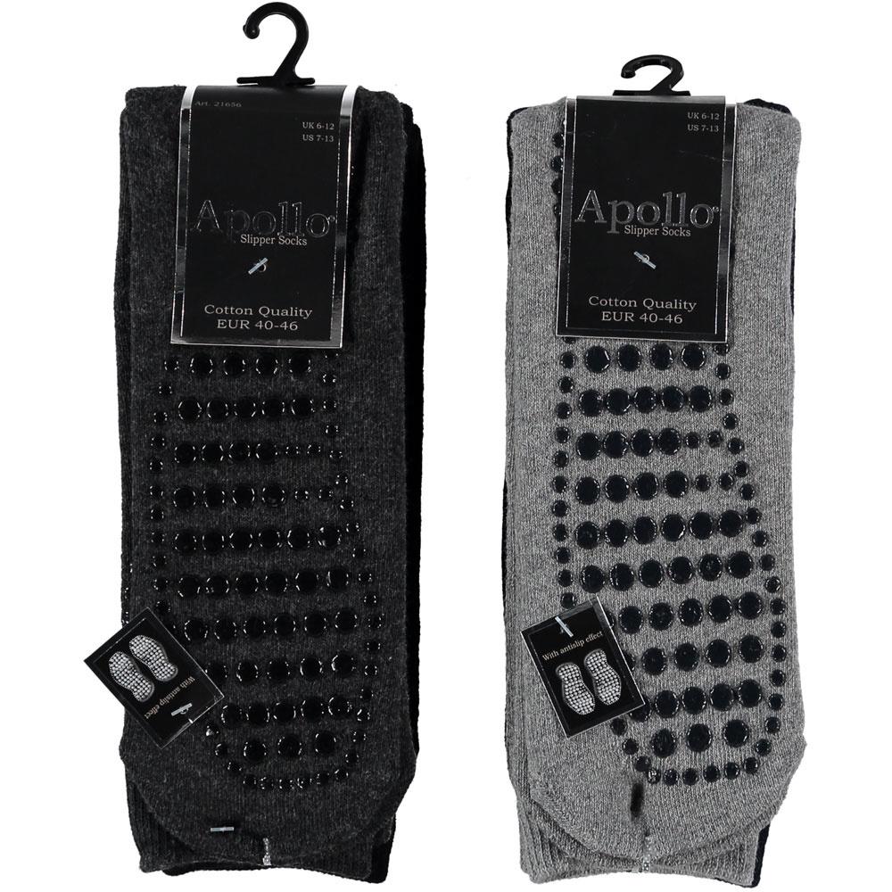 APOLLO Antislip sokken - heren - grey I