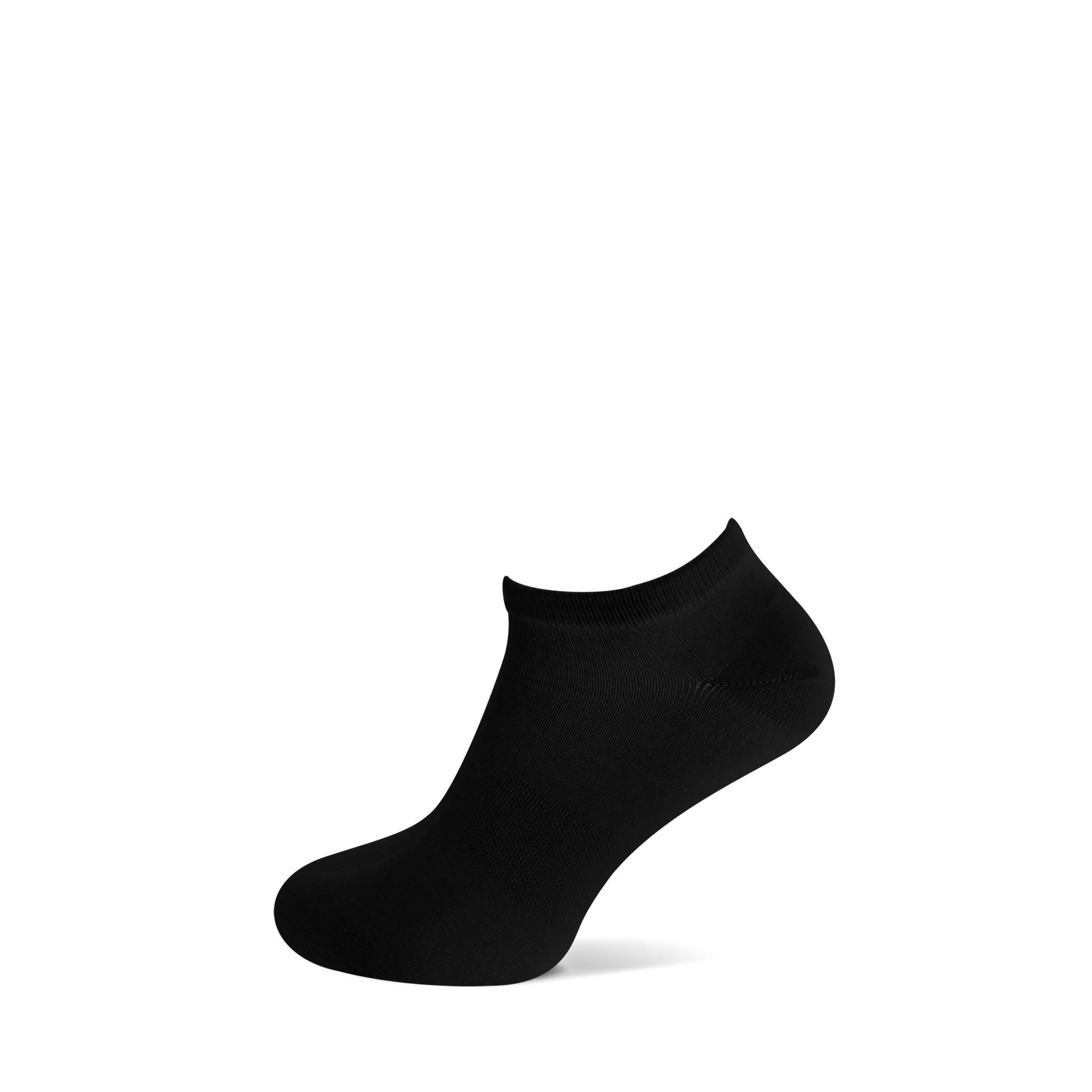Basset Bamboe sneakersokken - zwart