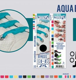 SHOEPS SHOEPS 8 Aqua Blue - elastische veters