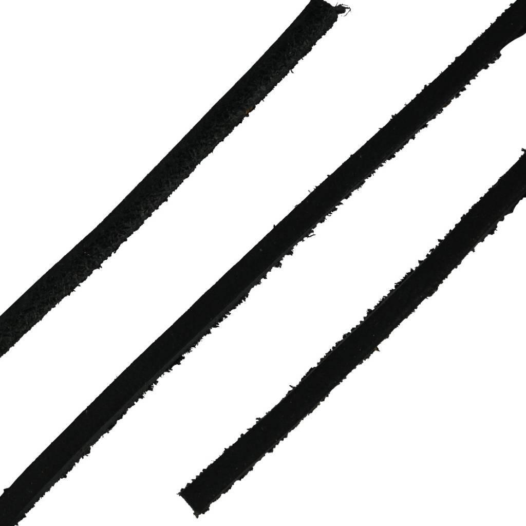 ShoeSupply.eu Leren Veters Zwart 120cm