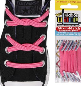 U-LACE VETERS U-Lace veters Kiddos Roze (shocking-pink)