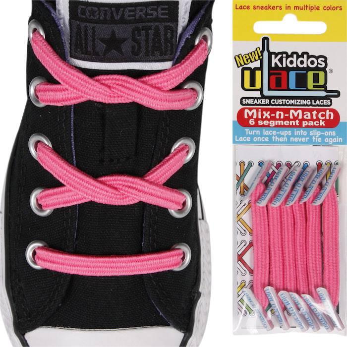 U-LACE VETERS U-Lace veters Kiddos Roze (shocking-pink)
