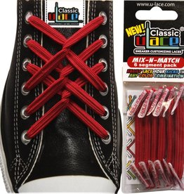 U-LACE VETERS Mix-n-Match Rood (Scarlet)