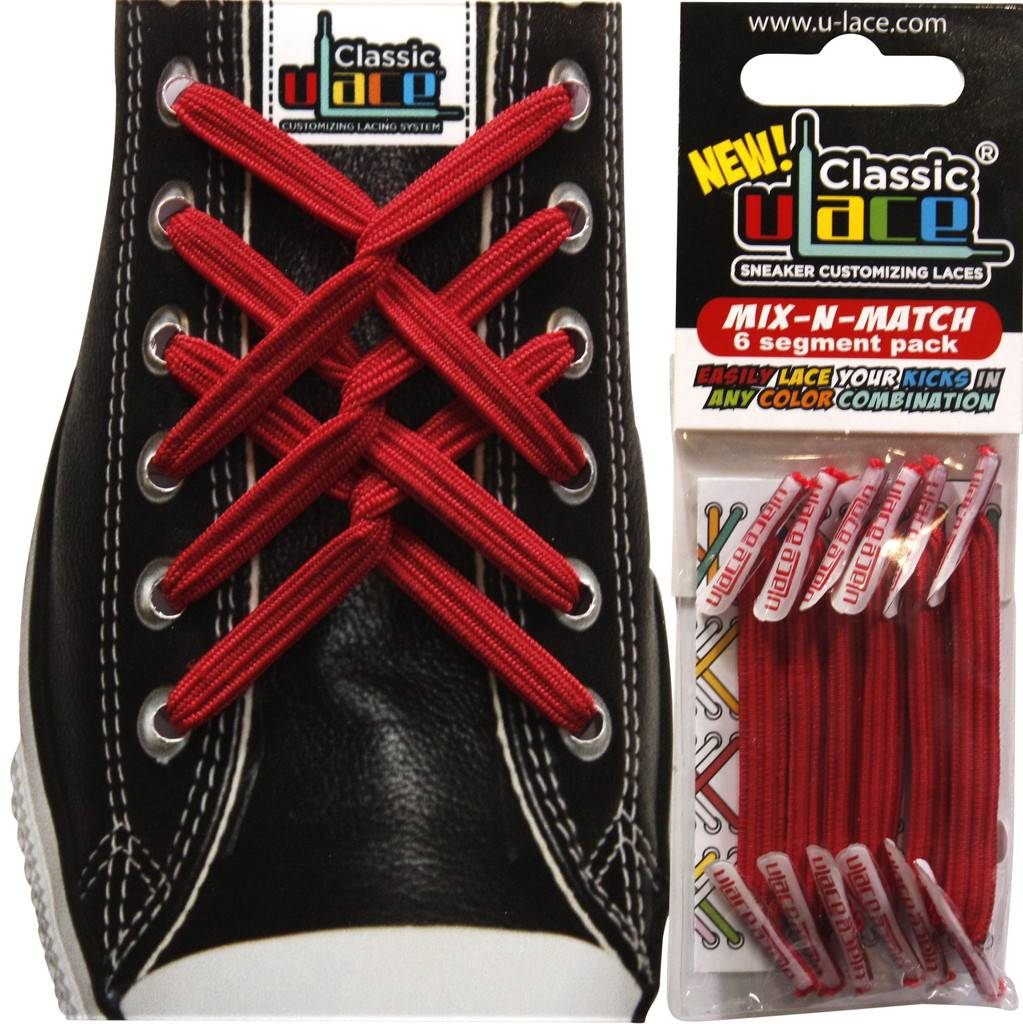 U-LACE VETERS U-Lace Mix-n-Match Rood Scarlet